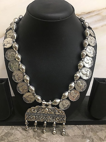 Fashion Jewellery Coin Necklace In Silver With A Hand Carved Pendent Website Link-https://goo.gl/3NfFjE . . . . . #necklace #indianjewellery #westernjewellery #accessorize #imitationjewellery #styleblogger #jewelrydesigner #silver #earrings #choker #colour #junkjewellery #streetwear #jewellery #onlineshopping #fashion #streetfashion #streetwearfashion #haul #stylediaries #girls #pretty #party #casualwearjewelry #menswear #haul #bridaljewellery #bridalwear #beauty #outfitideas #bridesofsabyasachi #indian #fashionista #bollywood #hollywood #celebrity