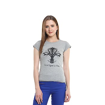 Diaz® Cotton Printed Round Neck Top For Women  Color: Grey Fabric: 100% Cotton Washing Instructions: Hand Wash In Cold Water Neck: Round Neck Sleeve: Short Sleeve  #women #men #kids #top #tshirt #legging #jegging #printed #comfortable #trendy   Buy Now:- https://amzn.to/2s5BiDt