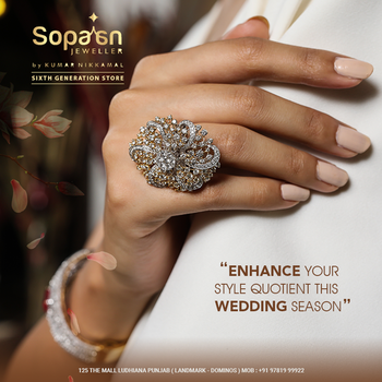 This #WeddingSeason - Make a statement with Diamond Floral Ring💍, that's well said to be the head turner for all occasions. . Link: https://bit.ly/2x3TuCc . . #SopaanJeweller💍💎💍 #Roposo #DiamondForever #EngagementRing #RoposoDiaries #Diamondrings  #DiamondJewellery #Gold #KumarNikkamal #IndianTraditionalJewellery #Sopaan #Ludhiana