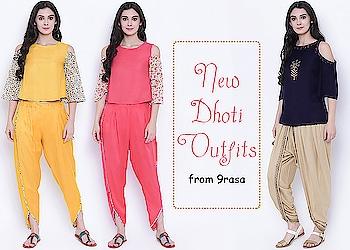 New dhoti outfits from 9rasa!  https://bit.ly/2x84OcD  #9rasa #studiorasa #ethnicwear #ethniclook #fusionfashion #online #fashion #dhoti #outfit #dhotioutfit