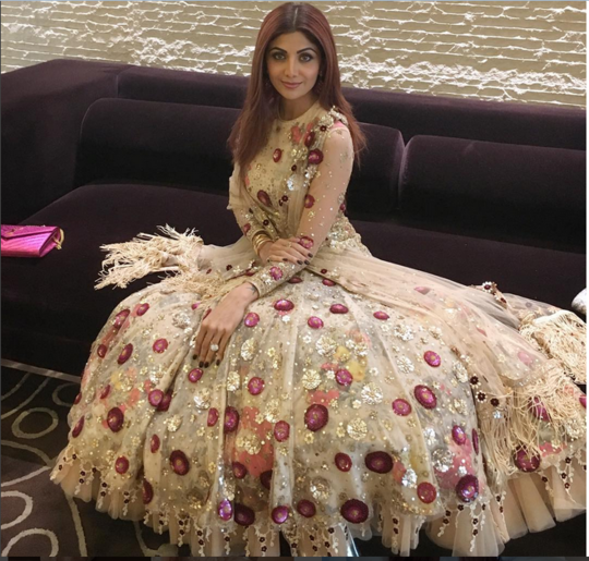 Shilpa Shetty In A Beautifully Hand Embroidered Gown
