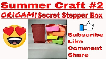 summer craft #2||Origami Secret Stepper Box Tutorial 💡 Gautam Sharma (Allinone )❤❤ chest of drawers