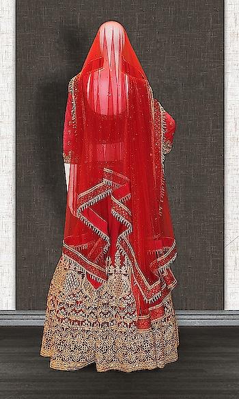 CANDY RED EMBROIDERED LEHENGA  http://www.khojkaladesign.com/lehenga/candy-red-embroidered-lehenga.html  FABRIC :- REMO SILK NET SHANTOON  SATIN Availability: In stock  SKU: KHOJ7206  Rs. 42,599  #queen #trends #glitter #girls #New #fashion #lehenga  #lehenga for wedding