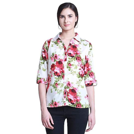 Women's Collor Floral Print Shirt ₹245 FREE SHIPPING Sleeve : 3/4 Sleeve Fit : Regular Fit Occasion : NA Neck Type : Collar neck Material : Polyester Pattern : Floral Print  #shirts #top #women-fashion #styles #winsant
