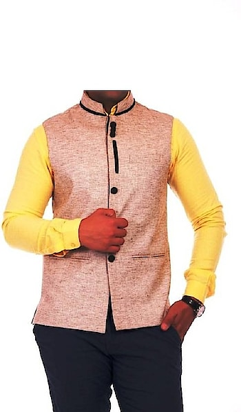 MS Creation sleeveless Party wear or Casual Nehru Jacket for Men MS Creation band collar five button waistcoat with a slit on both the sides, crafted…  https://www.amazon.in/dp/B079518SNC   #Jacket #sleevelessJacket #NehruJacket #Partywear #waistcoat