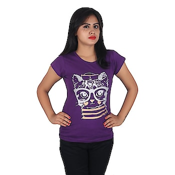 Diaz® Soft Cotton Printed Round Neck Top For Women  Color: Purple Fabric: 100% Cotton Washing Instructions: Hand Wash In Cold Water Neck: Round Neck Sleeve: Short Sleeve  #women #kids #men #clothing #tshirt #top #legging #printed #stylish #comfortable #trendy   Buy Now:- https://amzn.to/2s9aJwf