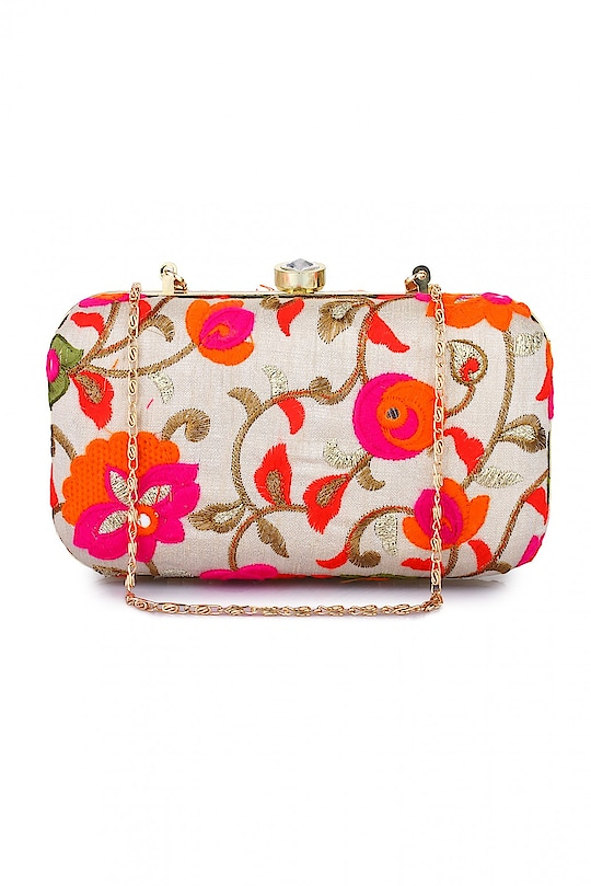 Women Multi Party Clutch ₹899 Color : multi color Occasion : Party Wear Material : Chanderi Ideal For : Women Themes : NA Compartments : 1 Width x Height : 11 x 7  #clutch #handbag #fashion #styles #onlineshopping #ethnic #winsant #roposo