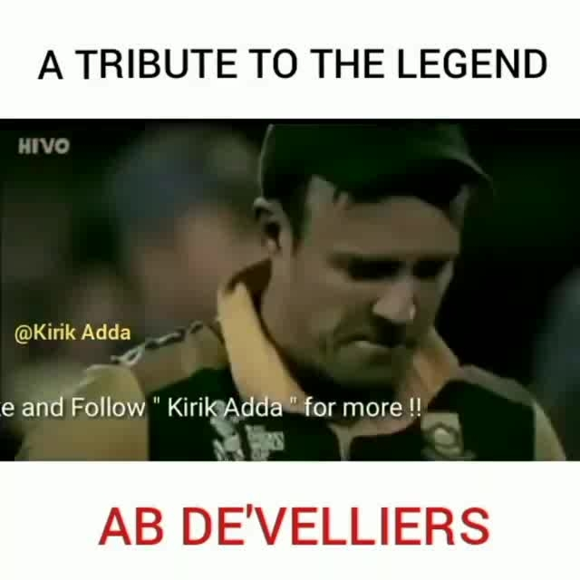 He Is The Only Cricketer Vit 0% Haters!!!💛  ABD 🦁 Retires From All Form Of Cricket 😭😭 😭I Have Seen Lots Of Player But Never Seen a Player And a Human Like You and MSD ❤!ThankYou For All The Memories Legend 👏! #luv-roposo #cricket lover  You Will Be Remembered For Forever 😘!#rockstar #roposoking #cricketfever #abdevilliers #beats #beats_channel #beatschannel #jeetchannel #cricketers #ropo-love #viralvideo #thankugod #abdevilliersbestinningsever #mr360  #ThankYouABD❤🔠 What a Innings By Mr. 360 🆎 Take a Bow Champion!!! ❤️ ️WHAT A KNOCK!!!! #ABD👑💕🤘 Love yu Mr. 360° #abd #ipl11 #vivoipl2k18 #mr360💯 #mr360 #abd #king #playbold🏏