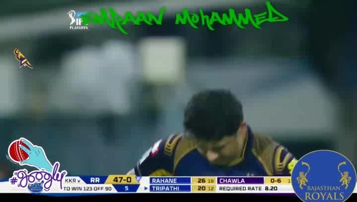 Chawla's Googly traps Tripathi | IPL 2018 | #sportstv #sportstvchannel #iplfever #ipl #playoffs #ipl2018 #kkrvsrr #googly #indianpremierleague #kkr #kolkataknightriders #amikkr #hallabol #rr #rajasthanroyals #googly
