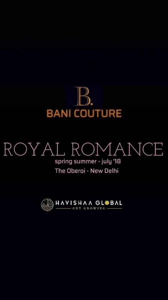 "Ladies, Get Ready for the  ROYAL ROMANCE  Spring Summer Collection  By @banicoutureofficial  This JULY 2018 at @oberoinewdelhi  Brought to You by @havishaaglobal  Style, Charisma, Magic  ""By Invite Only""  #spring #summer #july #2018 #royal #fashion #clothing #women #style #fashion #fashionable #fashionaddict #resort #gown #girl #girls #fashionista #fashionstyle #fashiongram"