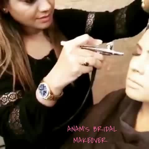 #anamsiddique #hairstylist #makeupartist #airbrushmakeup #demo#Students