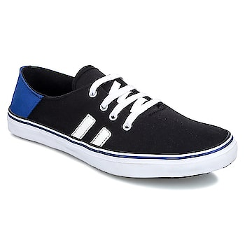 LeeParke Men Lace up Black and Blue Casual Sneaker. LeeParke brings to you the most comfortable Canvas sneakers (Rubber Vulcanised) for your running, walking and casual wear needs.   https://www.amazon.in/dp/B07BYQQ6XQ  #shoes #canvasshoes #sneakers #mensneakers #casualshoes #styleshoes