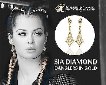 Sia #diamond_danglers in a #beautiful #modern_design set in 14k hallmarked #gold studded with 124 round brilliant cut diamonds of certified I-J color - SHOP NOW - http://bit.ly/2IQPINU