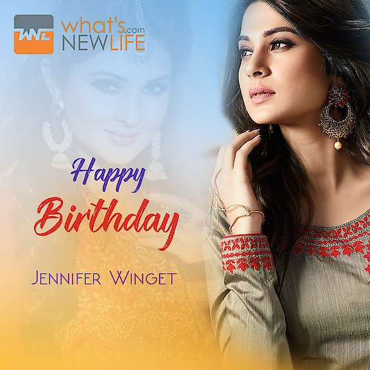 What's New Life wishes to most popular face of Indian Television, beautiful actress #jenniferwinget  very happy birthday today.  #WNL #happybirthday #wishes