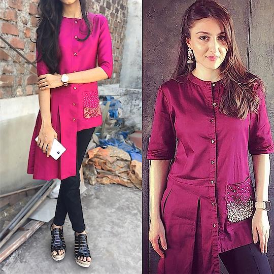Rani color boxpleat shirt  #race3 #salmankhan #video #cuteness-overloaded #roposo-mood #quotes #redlips #madeinindia #funnyvideo #therebel #mumbaiindians #hotness #myjam #tonguetwister #lol #musafir #dabangg #non-vegjokes #fresh #tonguetwisterchallenge #flowers #thuglife #bollywood #roposomic #roposo-fashiondiaries #pyarekdhokahai #indianpremierleague #chennaisuperkings #haha #model #fleaffair #fashion #kurti #style #trendy