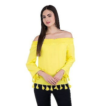 #clothing #summer #collection #girls #women #designer #printed #stylish #trendy #fashion #top #topforwomen #womentop #girlstop    Click here for more options to buy:- https://amzn.to/2xleTHk  Title-SIVYATI Casual 3/4Th Sleeve Solid Yellow Top for Women   Price-599  Link- https://amzn.to/2LNH7xw
