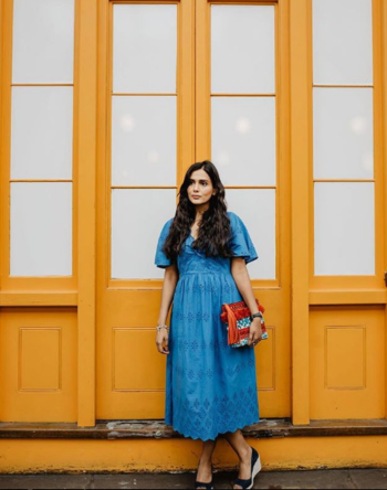 Summer ready 🌞 blue seems to be my go to colour this season. #ootd from @marksandspencer #marksandspencer #marksandspencerdress #bluedress #blueoutfit #summerdress #summeroutfit #everydaylook #ropo-style #ropo-fashion #roposofashionblogger #roposofashiondiaries #fashiontips #fashionblogger #ukblogger #indianfashionblogger