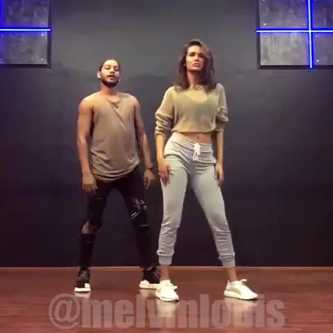 Esha Gupta and Melvin Louis together performing on Aastha Gill's #Buzz 👌👌