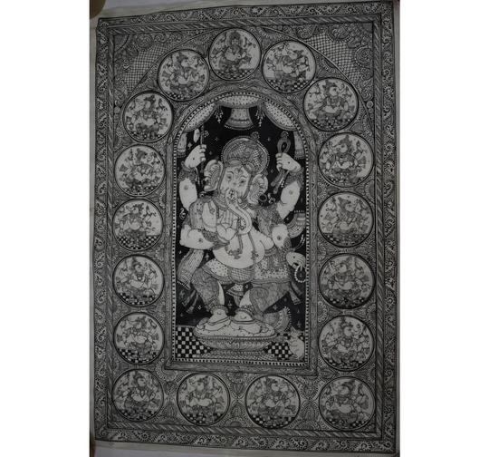 Best collection of HandPainted Standing Lord Ganesh patachitra Painting Art made in odisha Raghurajpur acailable to make your shopping fulfill . Buy this ethic collection on :- https://bit.ly/2srx1Kp