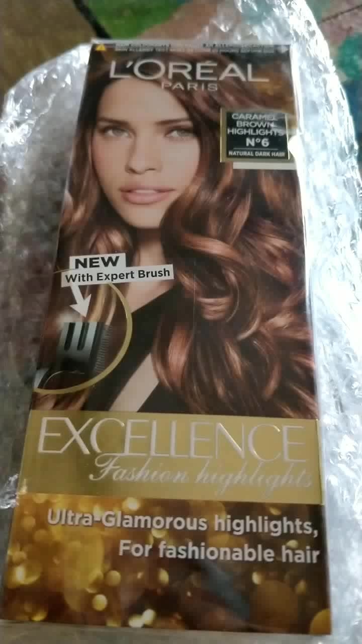 L'OREAL Paris Fashion Highlights Colour : Caramel Brown  super excited to try this one out!!!  #lorealparis #fashionhighlights #caramelbrown