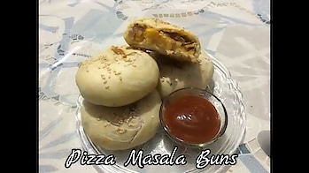 Pizza Masala Buns Making Video#How to make PizzaBuns#PizzaBuns by Recipe Indian Food with RadhiPatel