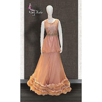 APRICOT PEACH DOUBLE LAYERED PARTY WEAR GOWN  http://www.khojkaladesign.com/evening-dresses/apricot-peach-double-layered-party-wear-gown.html  FABRIC :- GLITTER FABRIC  NET  SHANTOON  SATIN  SKU: KHOJ7205 Rs. 14,795 #fancysuitsdesigner #fancysuits #casualwear #eid #eidoutfit #eid2018 #eidmubarak #eidspecial #eidcollection #eidsale #eidshopping #eidsuit #mydress #womenfashion #fashionista #fashionblogger #indianfashion #bollywoodfashion #bollywooddresses #tvactressoutfits #actressfashion #celebrityfashion