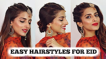 2 MIN EASY EID Hairstyles For Girls 2018 / Eid Special Hairstyle For Medium To Long Hair #roposolook #roposolove #soroposolove #soroposo #diy #hair #hairdo #hairstyletips #hairstyleoftheday #haircolour #easytodo #easyhairstyle #quickhairstyles #updo #bun #knotmepretty #indianblogger #indianyoutuber #blogger