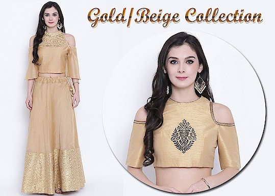 Gold/Beige Collection!  https://bit.ly/2zIlLMr  #9rasa #studiorasa #ethnicwear #ethniclook #fusionfashion #online #fashion #gold #beige #collection #like #comment #share #followus #like4like #likeforcomment #like4comment