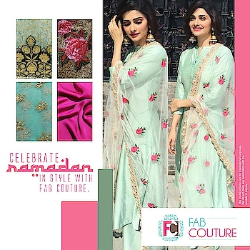 Let's see what the new trends are and what our options for #Iftaar party outfits are this year! Read more: http://bit.ly/2tcxPmd Grab your fabric at : https://fabcouture.in/ #FabCouture! #DesignerFabric at #AffordablePrices  #DesignerDresses #Fabric #Fashion #DesignerWear #ModernWomen #DesiLook #Embroidered #WeddingFashion #EthnicAttire #WesternLook #affordablefashion #GreatDesignsStartwithGreatFabrics #LightnBrightColors #StandApartfromtheCrowd #EmbroideredFabrics