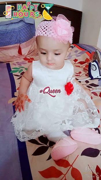 #cuteness-overloaded #kidsfashion #eidoutfit 😘😘3 #queen #happyhours