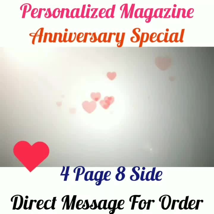 Order Done😘 Anniversary Special😘😍 Personalized Magazine😍 Keep Ordering😍😍 Birthday Couple Friendship Family Anniversary 4 Page and 8 Side 8 Page and 16 Side 😍😍😍 Page size A4 DM for Order . . #surprises#specialgift#happybirthday#birthdaygift #birthdaygifts#customisedgifts#uniquegifts #giftsforher#giftsforhim#giftsforcouple #anniversarygifts#anniversarygift #personalisedcards#greetingcards#handmadegift #handmadegifts#handmadecard #womanentrepreur#femaleentrepreneur#giftideas #photo_art_store #gifts_shopping_time #gift_online_store