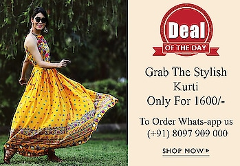 Grab The Deal of The Day...😍😍 Limited Offer 💥To Order Whats-app us (+91) 8097909000 💥  #kurtis #kurti #onlineshop #onlinekurtis #kurtisonline #dress #indowestern #ethnicwear #evening-gown