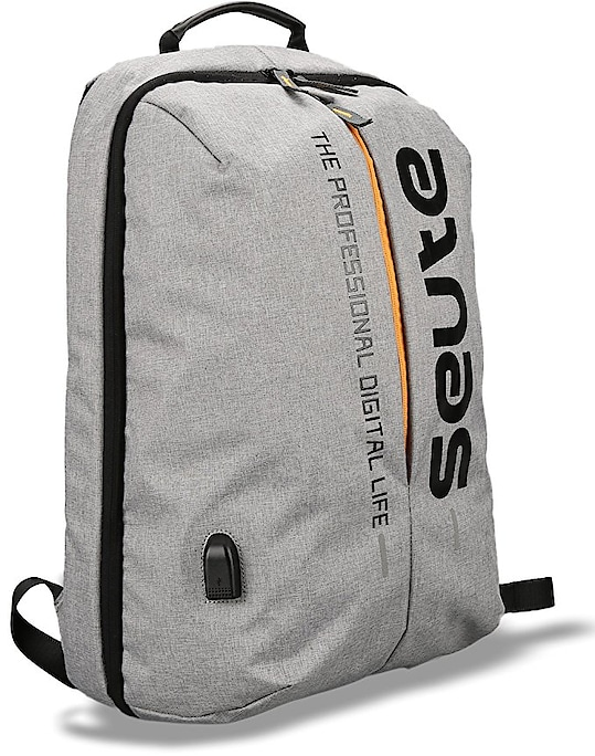 Price:2,499/- Deal of the day Seute Nylon 22 Ltr Grey Laptop Backpack