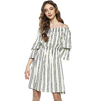 New Summer Collections.  Get a great and modern look with this Off white Colored Off shoulder Dress from the house of D'amor. Its offer you a perfect fit while keeping you extremely comfortable.  Click on the link to buy on below link. https://amzn.to/2IBcygp