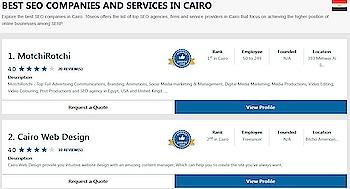 Ratings & reviews of best SEO companies & agencies in Cairo . 10seos brings the ranking of top SEO companies, SEO firms, & SEO services in Cairo .  #top10seocompaniesinCairo #seocompanyinCairo #bestseocompanyinCairo #seoegypt #seocompanyinegypt