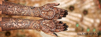 Adorn the colour of love upon you. Take inspiration from the most creative mehendi designs and select the best mehendiwala in India. #mehendidesign #weddingmehandi  https://www.functionmania.com/all/mehendi-artists