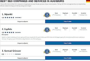 Ratings & reviews of best SEO companies & agencies in Augsburg. 10seos brings the ranking of top SEO companies, SEO firms, & SEO services in Augsburg.  #top10seocompaniesinAugsburg #seocompanyinAugsburg #bestseocompanyinAugsburg #seocompanyingermany