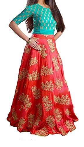 Market Magic World Kid #Partywear Orange Banglory #Silk Semi-Stitched #Dress @ Rs.499. Buy Now at http://bit.ly/2tlup0B