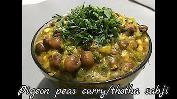 Pigeon Peas Curry#Winter Special Dry Tuver sabji#Gujarat Famouse Totha/thotha Sabji making Video