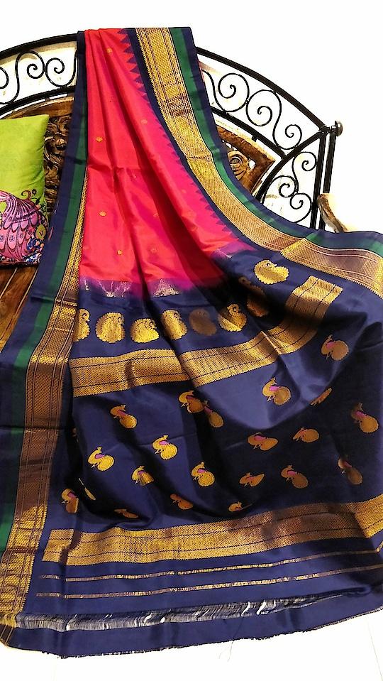 Pink gadwal saree with dual borders #Handloomsilk #Womenwear #Sareelove #Desifashion