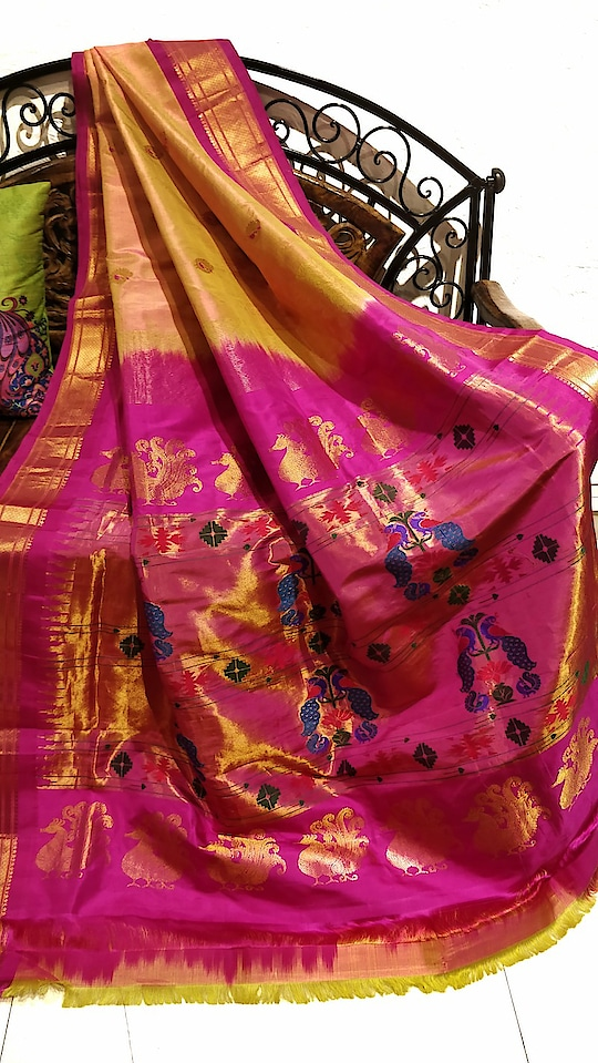 Peach paithani with pink border #Onlineshopping #Indianhandloom #Bridalwear #Ethnic #Couture #ethnicfashion #Culture #Indianwedding #Ethnicwear #indiantraditionalwear