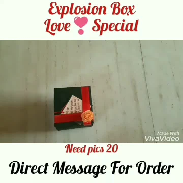 Heart Explosion Box Gift😘 Love Explosion box❣️ Need 20 pics ❣️❣️❣️❣️ Direct Message For Order🎁 @photo_art_store @gifts_shopping_time  @gift_online_store  @gift_personalized_magazine Special🎁🎁🎁🎁🎁😘 😍SPECIAL PERSON😍 Keep Ordering😍😍 Birthday Couple Friendship Family Anniversary 😍😍 😍 DM for Order  #surprises#specialgift#happybirthday#birthdaygift #birthdaygifts#customisedgifts#uniquegifts #giftsforher#giftsforhim#giftsforcouple #anniversarygifts#anniversarygift #personalisedcards#greetingcards#handmadegift #handmadegifts#handmadecard #womanentrepreur#femaleentrepreneur#giftideas #photo_art_store #gifts_shopping_time #gift_online_store