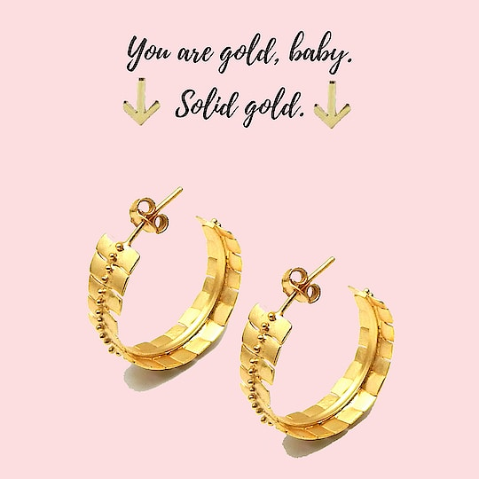 You are gold, baby. ⚡️ Solid gold⚡️  #earrings #jewelry #jewelrydesigner #jewelrymaking #jewelryforsale #jewelryart #jewelrybloger #jewelryshow #jewelryset #jewelrysupply #jewelrybrand #jewelrystyle #jewelryparty #jewelrymaker #jewelrystore #jewelryporn #jewelryshop #jewelrylove #jewelryjunkie #jewelryswag #jewelrygoals #jewelrylovers #jewelrygifts #jeweleryfashion #jewelrysupplies #jewelrybotique #jewelrylover #jewelrydesign #handmadejewelry