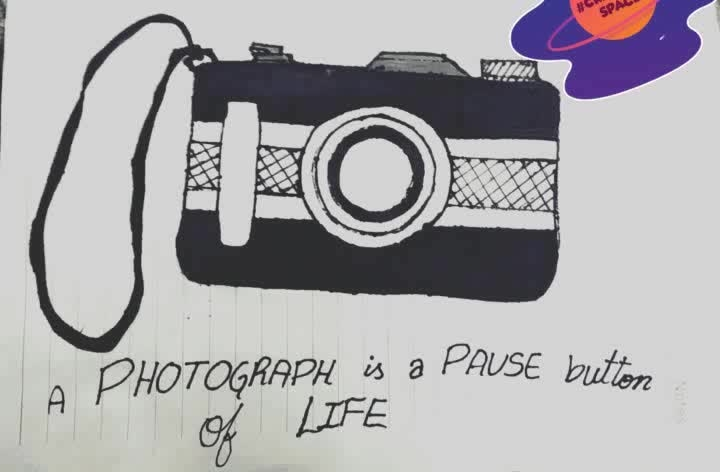 creative space A Photograph is a Pause button of LIFE #indianphotogirl #cameralove #creativespace #artistsoftheworld #journals #artjournal #drawings #photography-love #roposo #roposo-creativeartist #art #diaries #camera #artoftheday    #creativespace