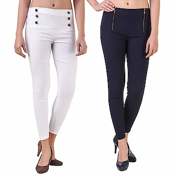 "https://amzn.to/2yB4yYb #GirlsShopping #Stylish #CottonJeggings for Womens(Pack of 2)                            price:	   2,499.00                   Sale Price:	   699.00                      You Save:	   1,800.00 (72%)  Best Quality and #Stretchable #Cotton Fabric. The fabric is soft smooth and very comfortable. with long lasting grace.Team these #jeggings with a #croptop and high #heels for a stunning look. ""This jeggings from #Girls #shopping is a real #fashionable woman's product which gives you a rocking look as well as comfort and grabs the colours of the season by wearing these #solid coloured jeggings. This Jegging for #women in slim skinny #style makes to feel relaxed and helps to flatten your curves. It is suitable for any weather ie. #Summer or #winter. Care Instructions: Wash dark colors separately. Do not bleach, and line dry in shade; medium to mild iron """