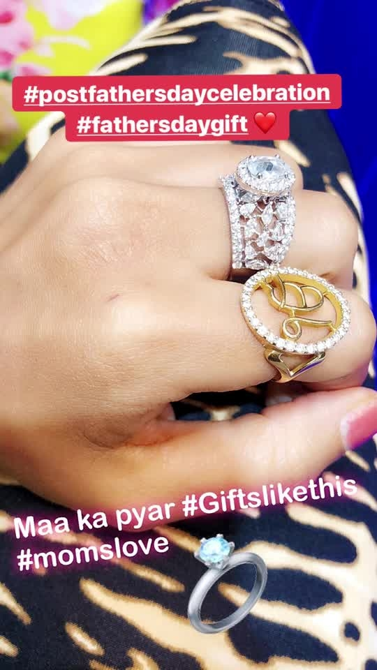 Post Father's Day gift by My mommy ❤️❤️ Thanku so much for This beautiful gift and I promise I will try not to remove this frm my finger 😋🤦‍♀️ : #new #diamondring added in #mycollection #fathersdaygift #postfathersdaycelebration #fathersday #special by #mom #thankyousomuch #loveyoulots #diamonds #diamondlove #luxury #luxurylifestyle #gifts #nehamalik #model #actor #diva #blogger