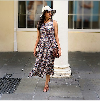 Cool Vacation Outfit  #fashionblogger #indianfashionblogger #ukblogger #fashionforroyals #fashiondiaries #ropo-love #ropo-fashion #ropo-style #roposofashionblogger #roposofashiondiaries #summerready #summerdress #printeddres #printedoutfit #printedpants #dress #summer-style #summer-fashion #summerfashion #haveagoodday #hairtrends #hat #hattrend #Ootd #styleadvice #slingbag #brownbag