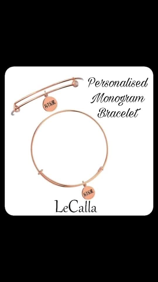 Personalised Monogram Bracelet with adjustable lock to fit all sizes, Order yours now. DM for more details. #LeCalla #Personalised #Silver #Goldplated #Bracelet #ordernow #musthave #giftideas #unique #customized #instalove #instagood #instajewellery #silvergift #ootd #photooftheday #fashionista #womensfashion #fashionwear #trendyjewellery #giftideas #roposo #roposolove #roposotalks #jewellery #exclusive