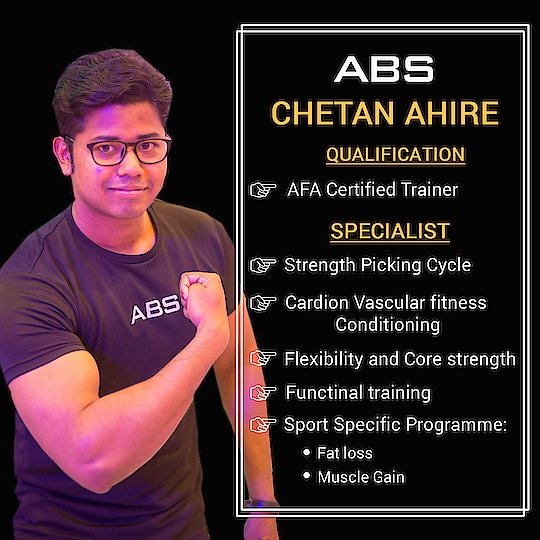 Who's ready to get amazing results with our versatile Fitness trainer Chetan Ahire 😎…  #absolutelyalive #absnashik #NashikFame #AbsFitnessNWellness #abs #motivation #fitnessmotivation #fit #fitnessbody #fitnesstrainer #fitnessaddict #fitnessfreak #health #fitnessfun #fitnesslifestyle #bodybuilding #muscle #fitnesslife #gymlife #fitnessfood #fitspo #fitnessgoals #fitnessfreaks #gym #workout  #fitnessjourney
