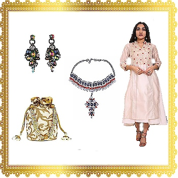 Affordable looks under 5k ! Look chic in this white tunic and matching potli bag.Shop now and get 10% off when you sign up for the newsletter.Buy these multi colour earrings and pair them with multiple outfits. We ship worldwide.Get 10% off when you sign up for the newsletter. #indianfashion#fashion #fashionblogger #blogger #beautiful #trendy #hot #couture #bag#style #week #beauty #men #fashionshow #fashionweek #women #winter #newyork #jewelry #whatiwore #designer images used for representation purpose only.